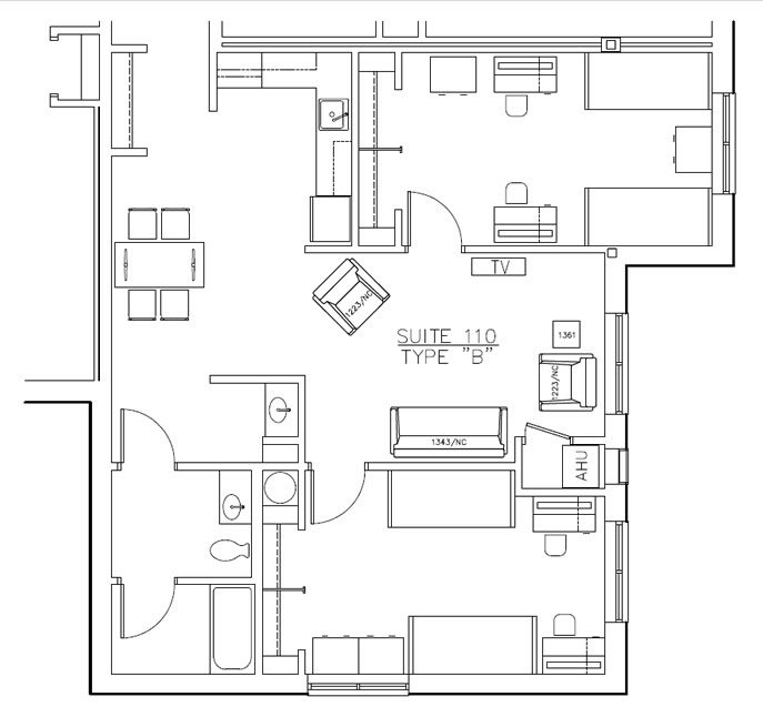 Residence Hall Layout B