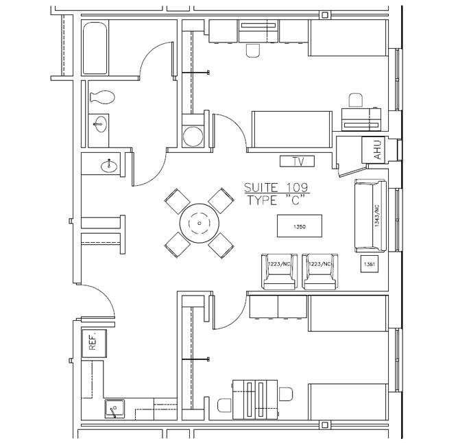 Residence Hall Layout C